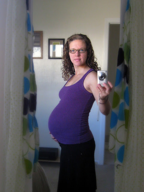 30 weeks pregnant self-portrait