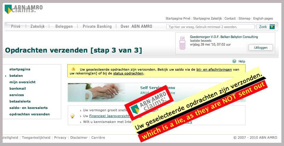 cash against documents abn amro