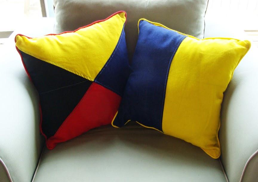Skipjack's Nautical Living: Nautical Signal Flag Pillows ...