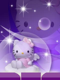 Gambar Hello Kitty Lucu Warna Ungu Angel