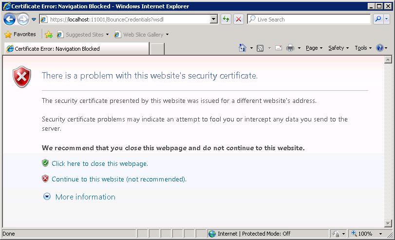 establish trust relationship for the ssl tls secure channel