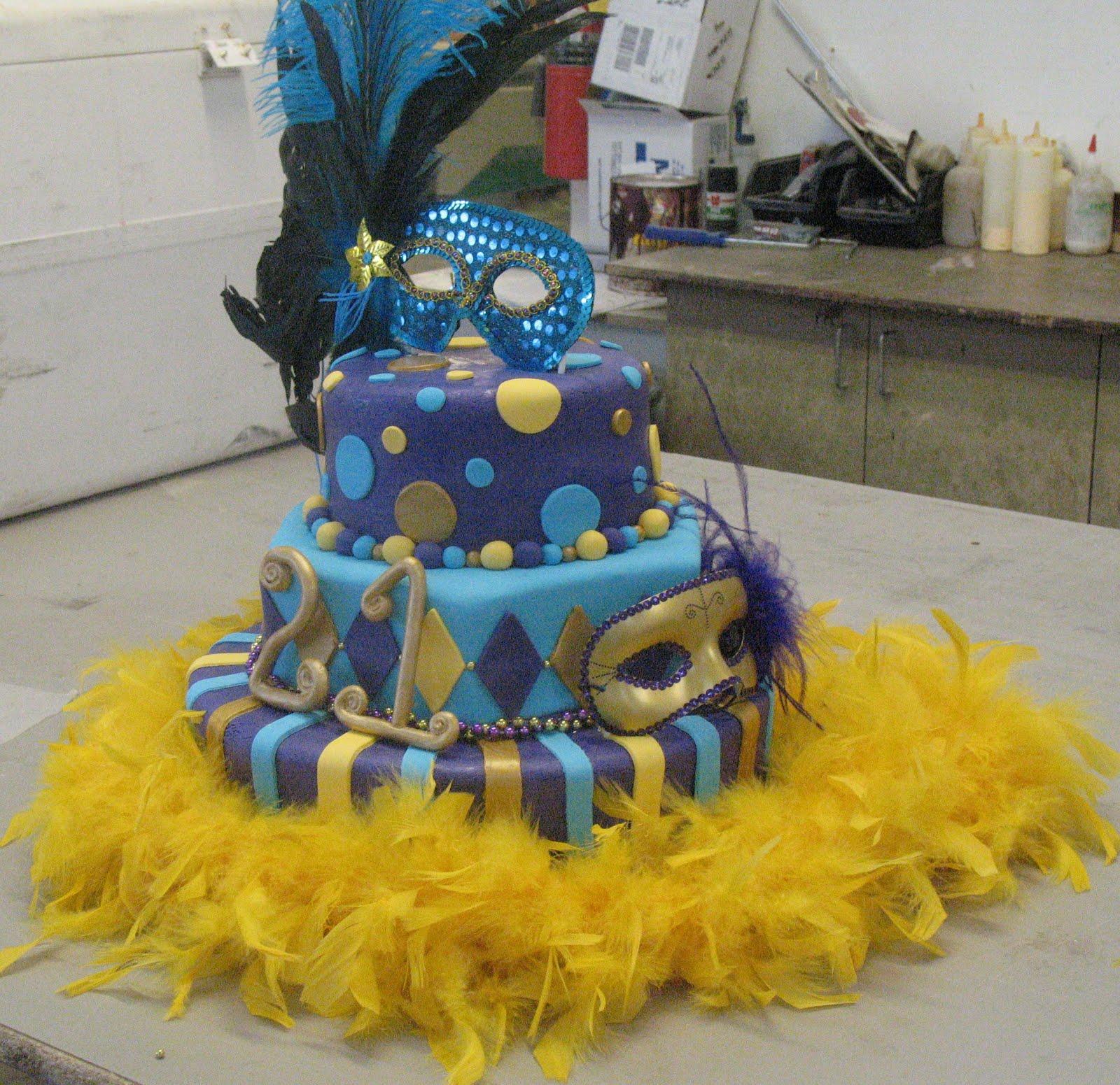 J S Cakes Mardi Gras Cake
