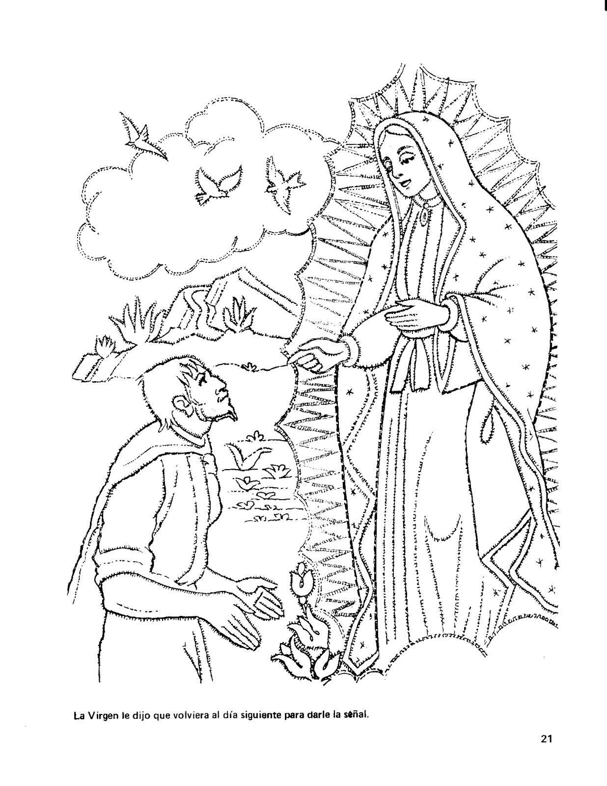 SANTA TERESA DE JESUS: DIBUJOS NUESTRA SEÑORA DE GUADALUPE