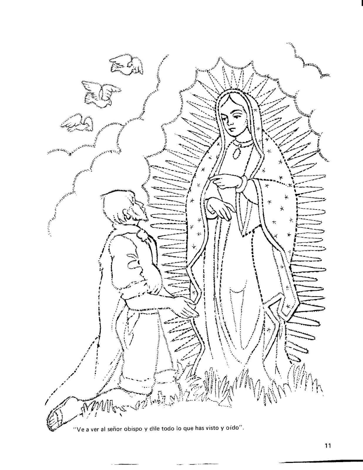 Dibujos De La Virgen De Guadalupe Para Colorear Imagui