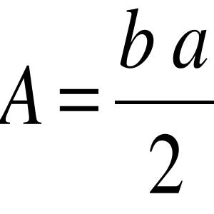 Ama sin interes: area de un triangulo