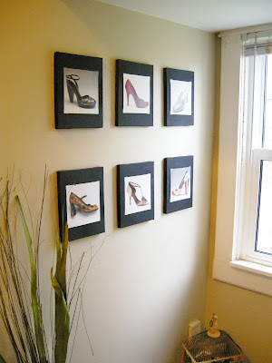 Shoe Calendar as Art, DIY Art ideas, Shoe Art, calendar recycle, easy crafting, easy dIY, easy DIY art, dollar store art