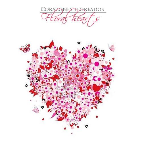 Corazones floreados Floral hearts