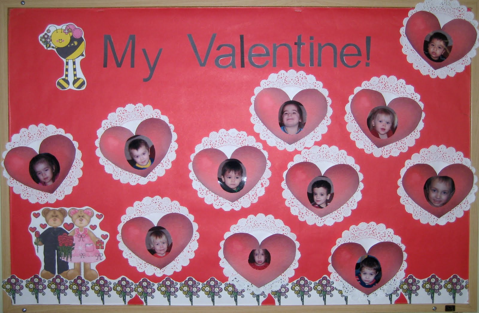 1 2 3 Learn Curriculum Bee My Valentine Bulletin Board