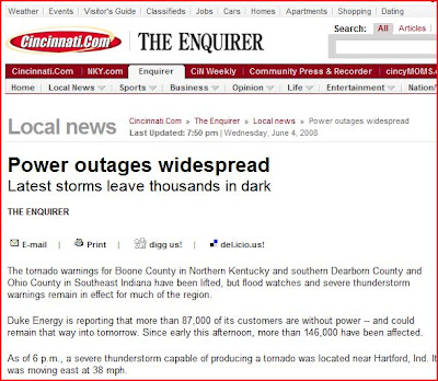 CityKin: Power Outages