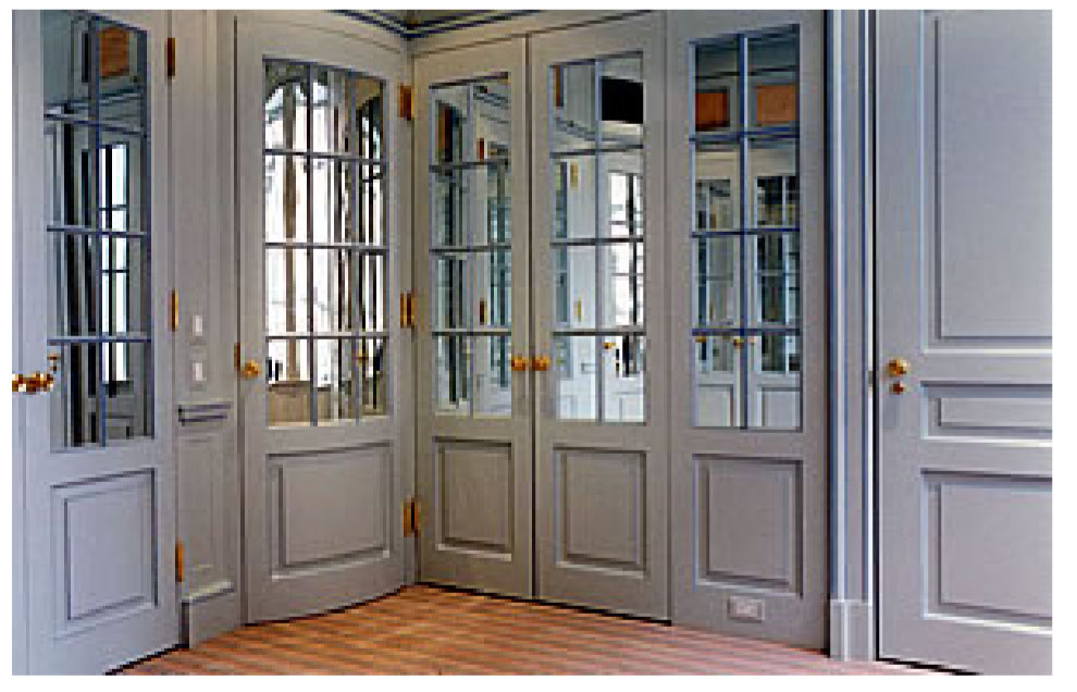 mirrored french doors | For the Home | Pinterest