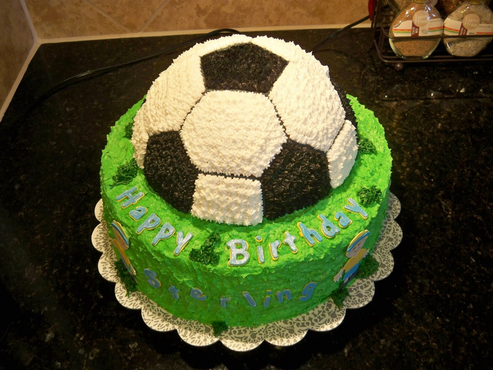 Lenas Sweet Creations Soccer Birthday Cake