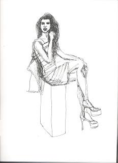fashion styles women  My fashion illustration  sitting girl (by Liz ... ef98ac993