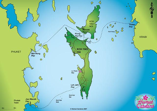 Carte Thailande Koh Yao Yai.Where Is Marie Thailande 7 Koh Yao Yai