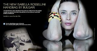 "Bulgari's ""Isabella Rossellini"" handbag line"