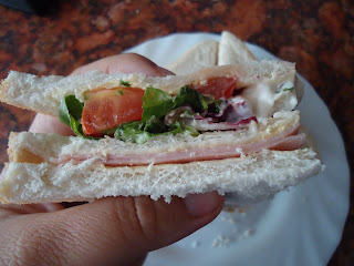 Double Layer Ham and Salad Sandwich, probably the best sandwich ever made