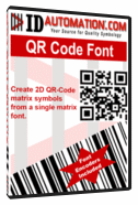 Lejuplādēt Programmatūru: IDAutomation QR-Code Font and Encoder