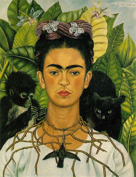 a portrait of frida kahlo Frida kahlo : artiste mexicaine née le 6 juillet 1907 elle a beaucoup souffert dans son enfance et sa jeunesse à cause d'une maladie  cache en partie sa jambe gauche pourquoi la gauche  peut-être est-ce un « portrait en miroir .