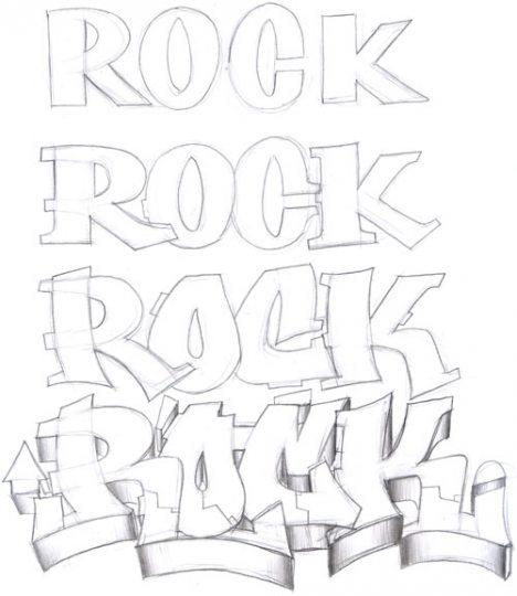 Los Graffitis: Hoy os enseñare a dibujar letras de graffitis