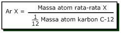 masa atom dan molekul relatif