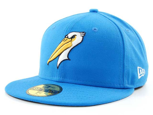 This Hat Is For A Minor League Baseball Team Named The Myrtle Beach Pelicans Has Cly Logo And Great Colors Them To Be Playing Out Of