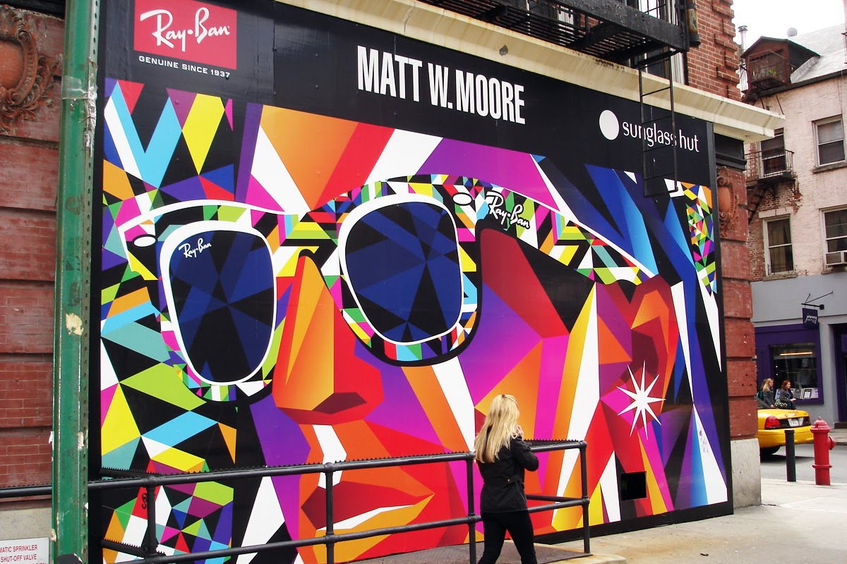 febdb62810 The Sunglass Hut Retail Stores in New York City are celebrating this  collaboration with instore and mega exterior signage and vinyl wraps.