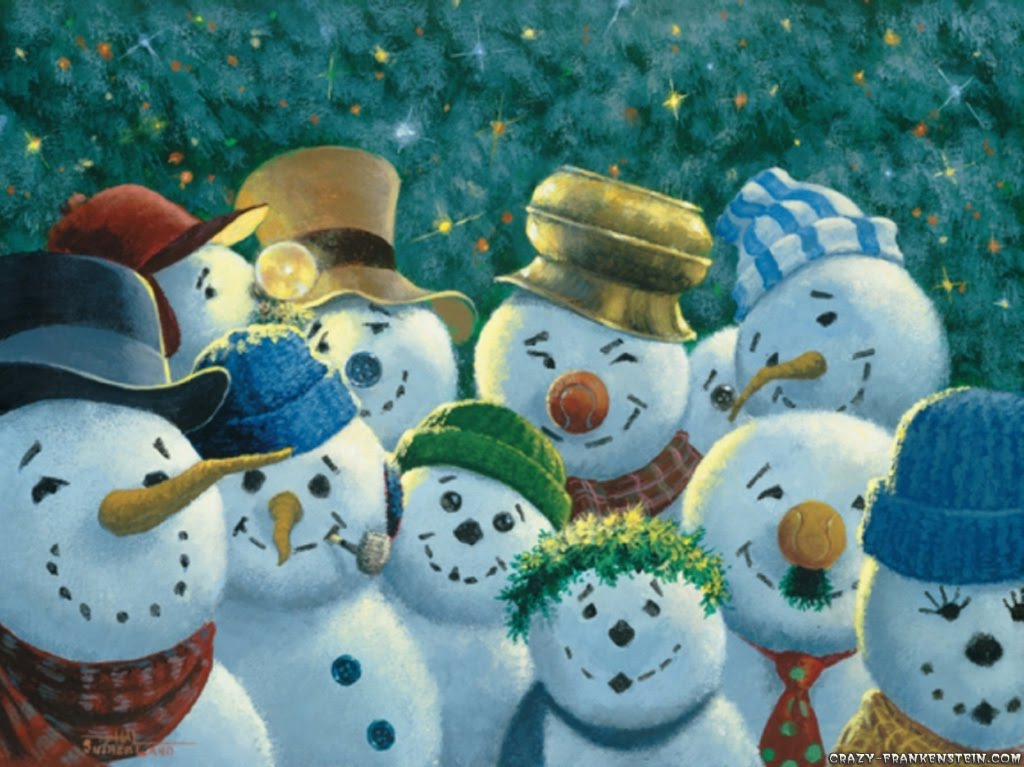 Christmas Wallpapers Funny Snowman Desktop