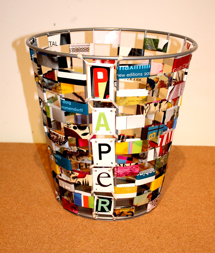 Replayground Recycling With A Twist Remake It Paper Waste Basket