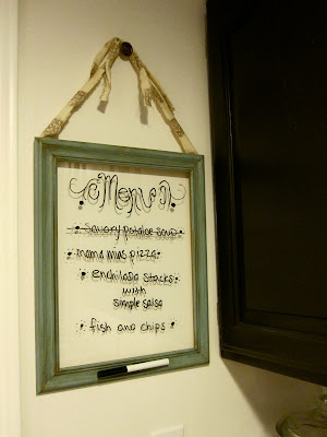 dinner menu glass dry erase board