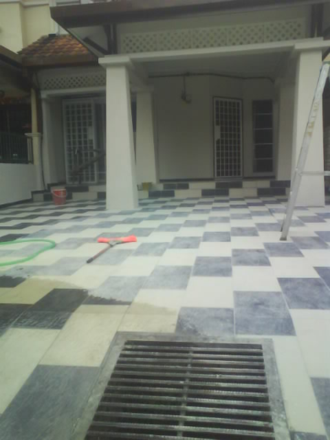 Pasang Tiles Porch Kereta Tiles Untuk Porch Kereta Tile