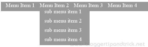 30+ Pure CSS Horizontal Menus Tutorials   Blogger Tips and Tricks