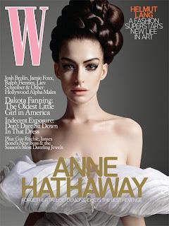 Anne Hathaway Beautiful in W Magazine
