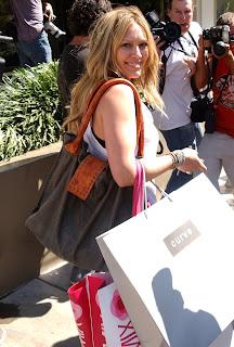 Hilary Duff shopping at Intermix on Robertson Blvd