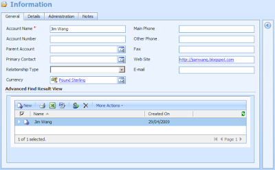 CRM 4 0 IFrame: Show Advanced Find Result View - Microsoft
