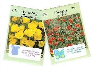 Flower Seed Packets - An Inexpensive Baby or Bridal Shower Favor