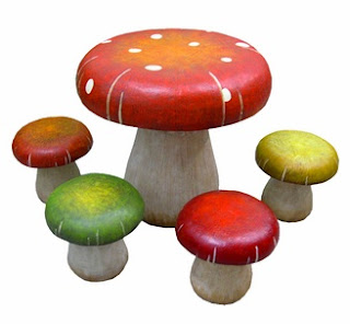 Streamline Toadstool Table Chairs Set