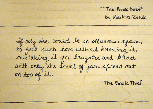The book thief the life of
