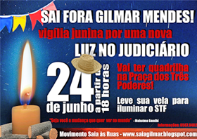 24/6, 18h, Praça dos Três Poderes, Brasília