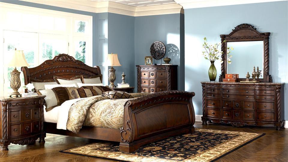 Bedroom Furniture Discounts Ashley North Shore 6pc Sleigh Bedroom Set Sale