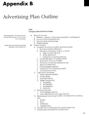 Software company sales marketing benchmark, advertising plan outline - advertising plan