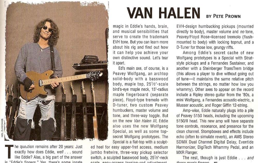 legendary guitar sounds eddie van halen guitar rig. Black Bedroom Furniture Sets. Home Design Ideas