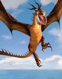 The Dragon imagined by Dreamworks is all red!