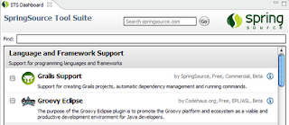 Adding Groovy and Grails Support to SpringSource Tool Suite (STS