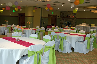 Marcie Taylor Events And Rentals Fucshia And Lime Wedding
