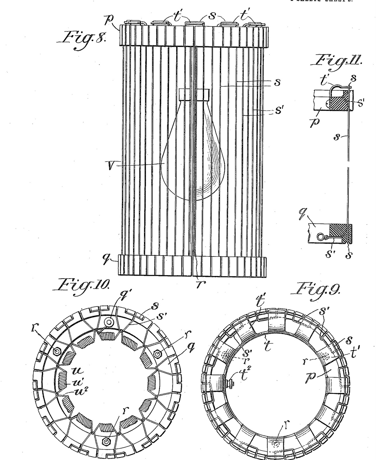 hight resolution of the charge on the wires was supplied using an induction coil and a battery the