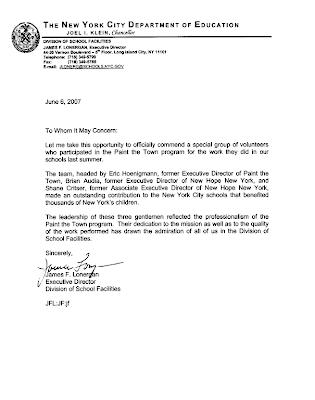 Eric Hoenigmann Letter of mendation James Lonergan The New