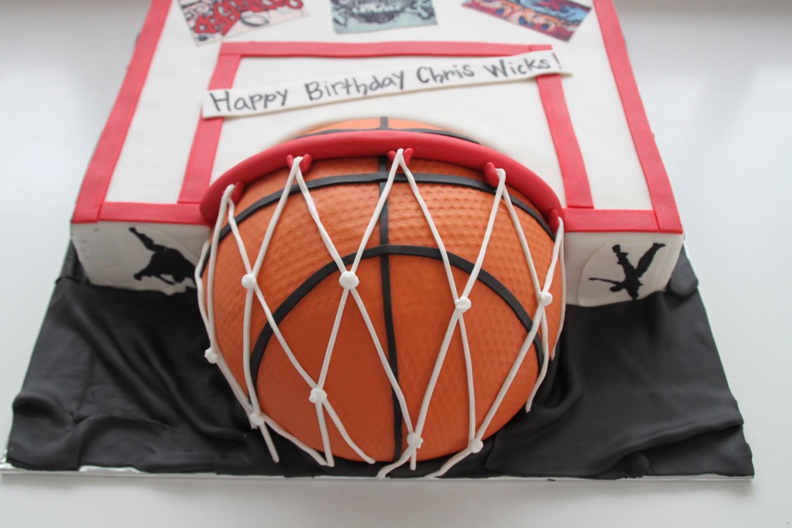 Celebrate With Cake Basketball Graffiti Cake