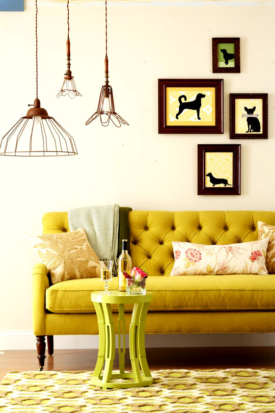 Mustard Living Room Decor: Little Lovables: Inspired Room: Designing With Mustard And