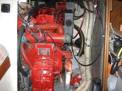 THE BIANKA LOG BLOG: Removing a Westerbeke sel engine on
