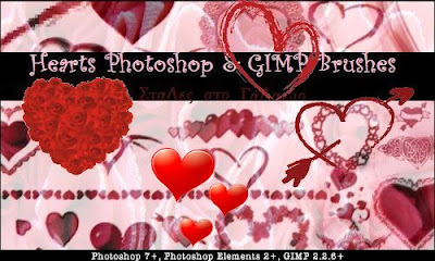 Hearts Photoshop & GIMP Brushes, Photoshop Brushes, Photoshop Stuff