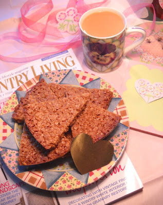 Flapjacks, a cup of tea and British Country Living magazine